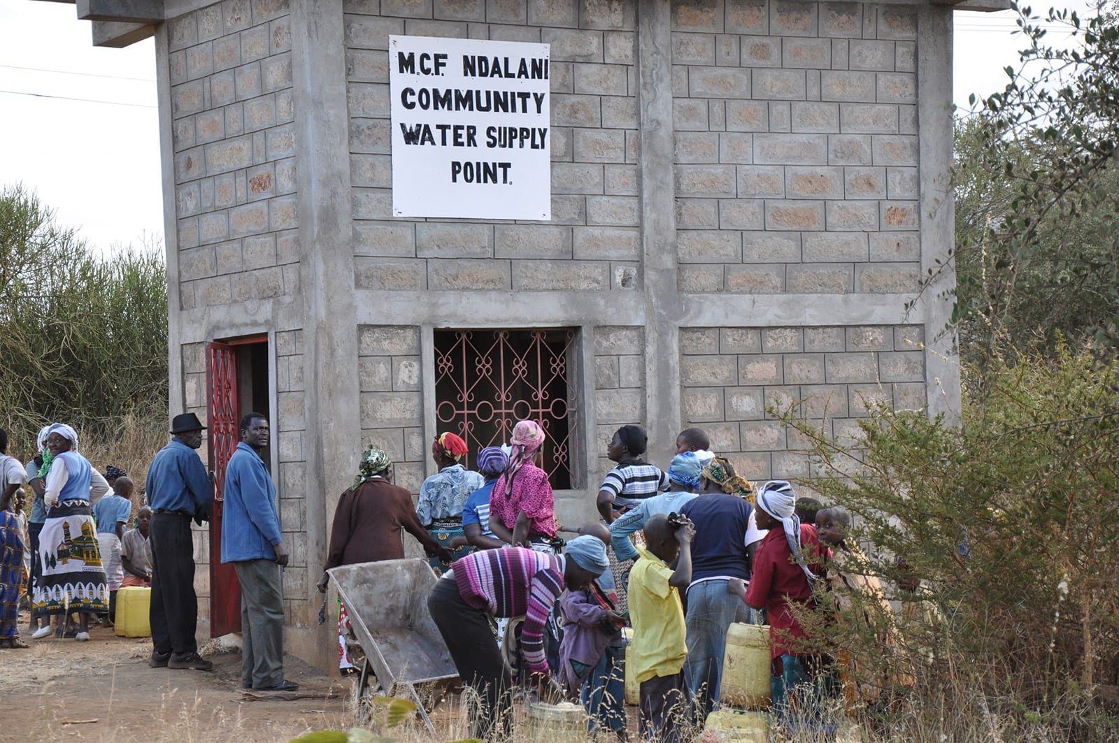 water supply point provided by Mully Children's Family