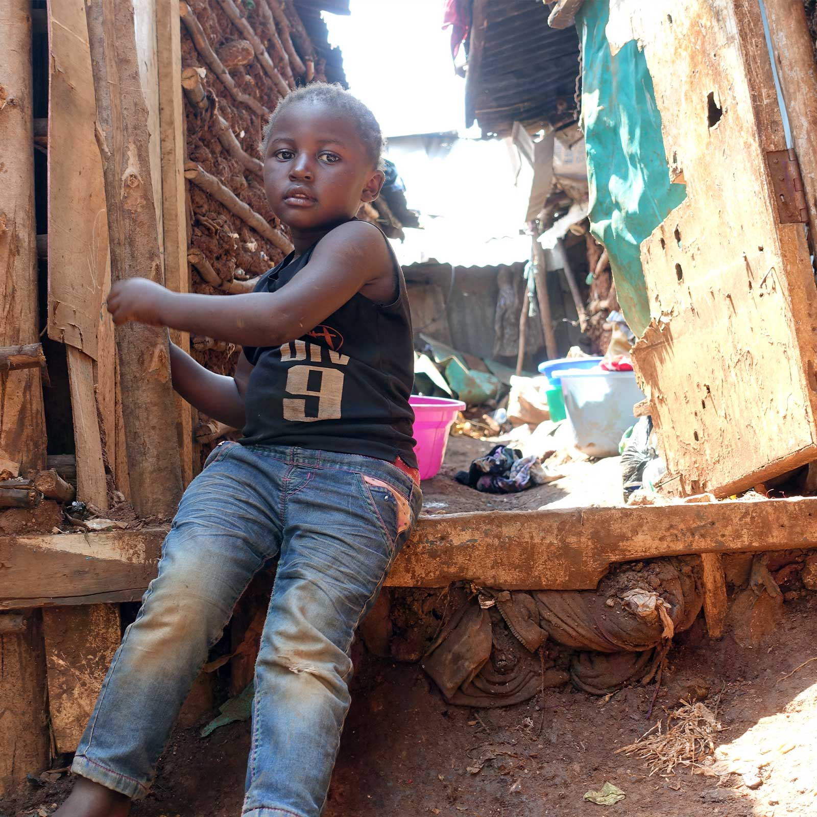 photo: vulnerable and alone orphan