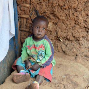 photo: orphan toddler sitting
